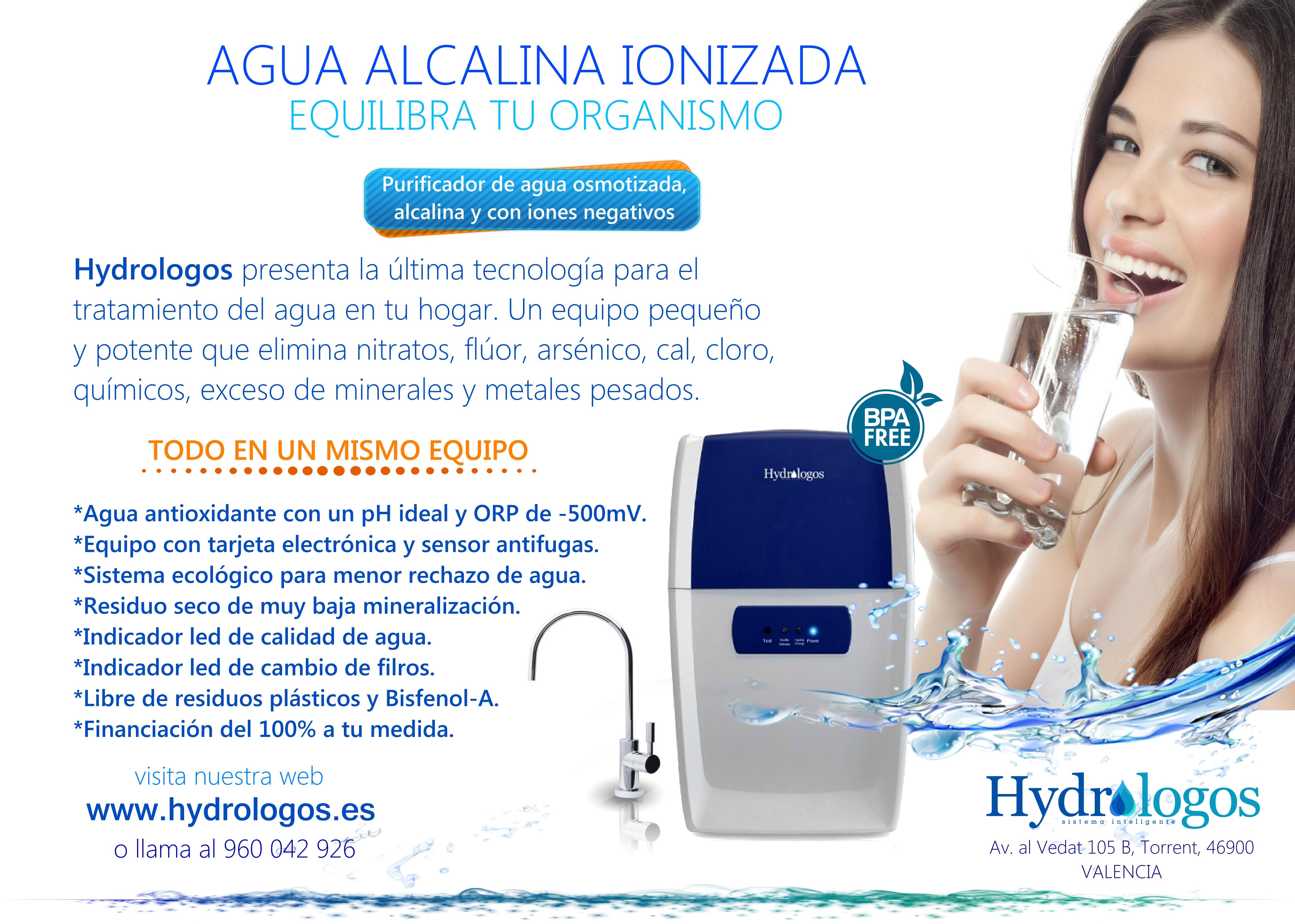 Agua alcalina ionizada Valencia