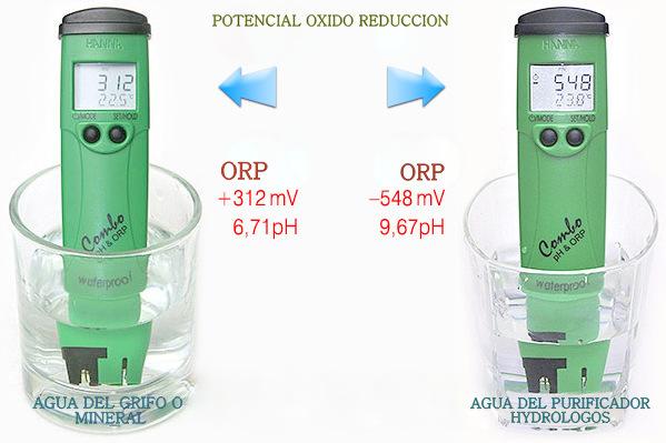 Agua Alcalina Antioxidante con ORP negativo