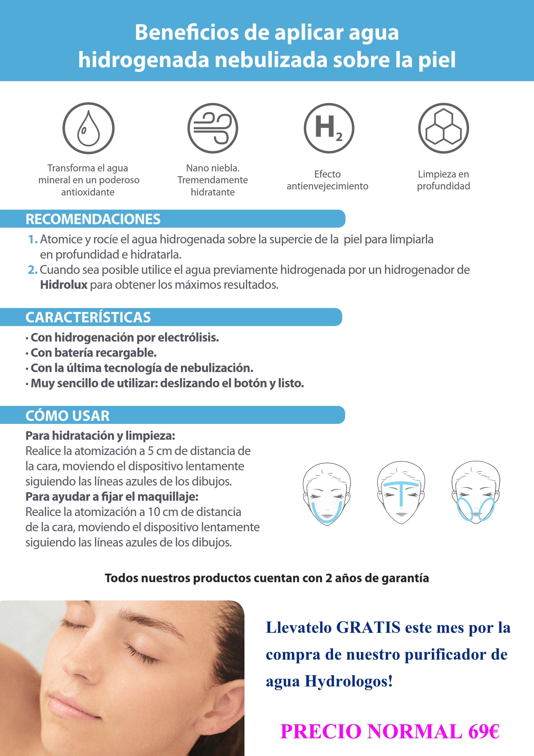 Hidrogenador Facial Hydrologos