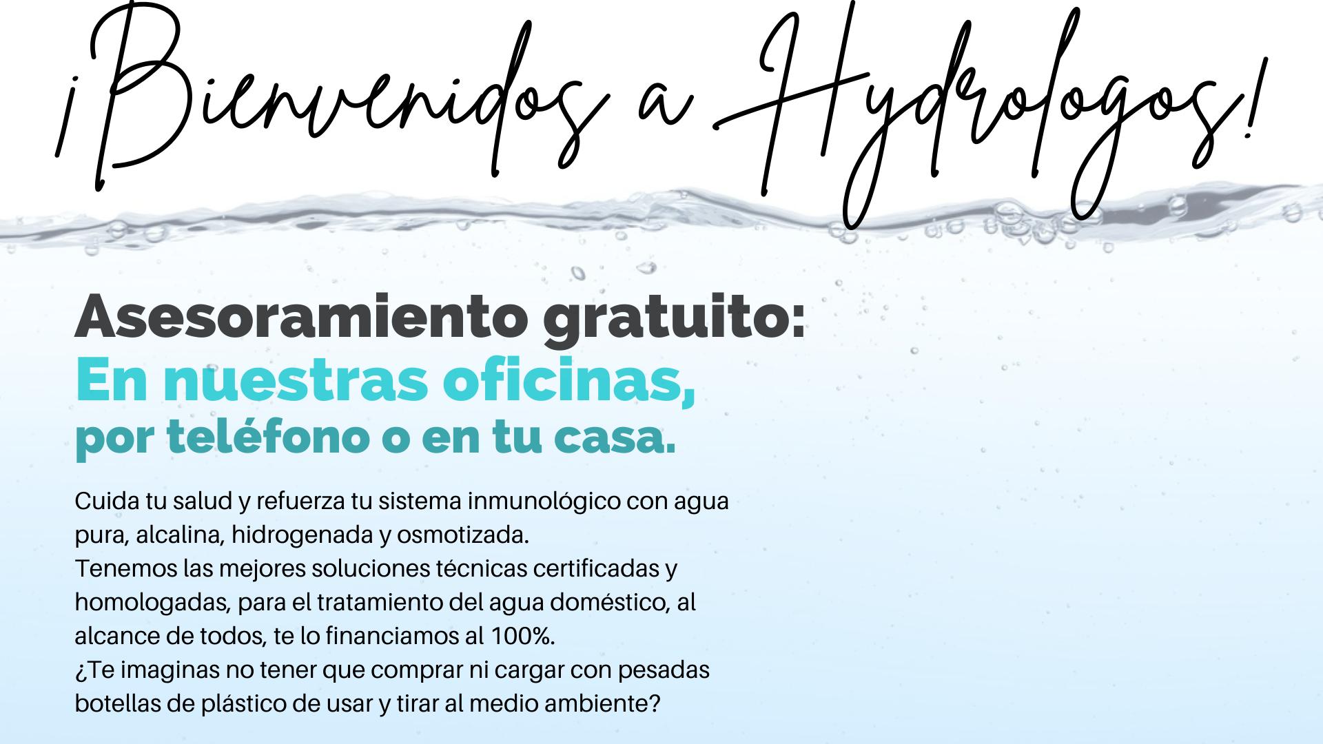 Bienvenidos a Hydrologos - Agua alcalina, hidrogenada, Osmosis Inversa Valencia